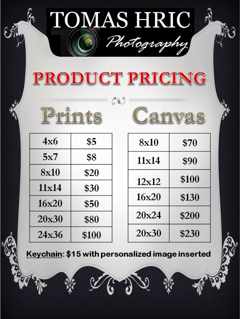 Product Pricing for Tomas Hric Photography in northern virginia falls church alexandria arlington washington DC maryland best and afordable photographer