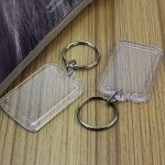 clear double sided rectangular keychain products photography in northern virginia